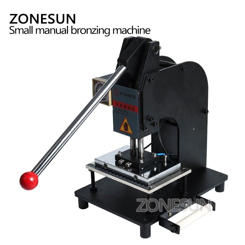 ZONESUN 10*15cm Große Manuelle Leder Logo Papier Heißer Folie Stanzen Präge Maschine Hitze Presse Maschine
