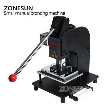 ZONESUN 10*15cm Large Manual Leather Logo Paper Hot Foil Stamping Embossing Machine Heat Press Machine FREE SHIPPING