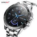 2017 LONGBO Fashion Brand Sports Style Stainless Steel Luminous Waterproof Quartz Watch Luxury Wristwatches Mens Watches 8833