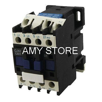 Motor Control AC Contactor AC-3 5.5KW 12A 3P 3 Pole 220 Volts Coil CJX2-1201 ac contactor motor starter relay lc1 cjx2 1201 3p nc 220 230v coil 12a 3kw