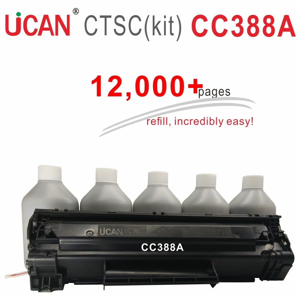 CC388A 88A Toner Cartridge for HP laesrJet P1007 P1008 P1106 P1108 M1136 M1213nf M1216nfh M126 M128 M226 Printer 12,000pages