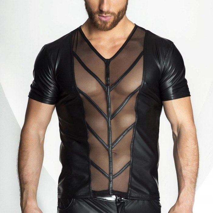 Quevo Adult Black Muscle T
