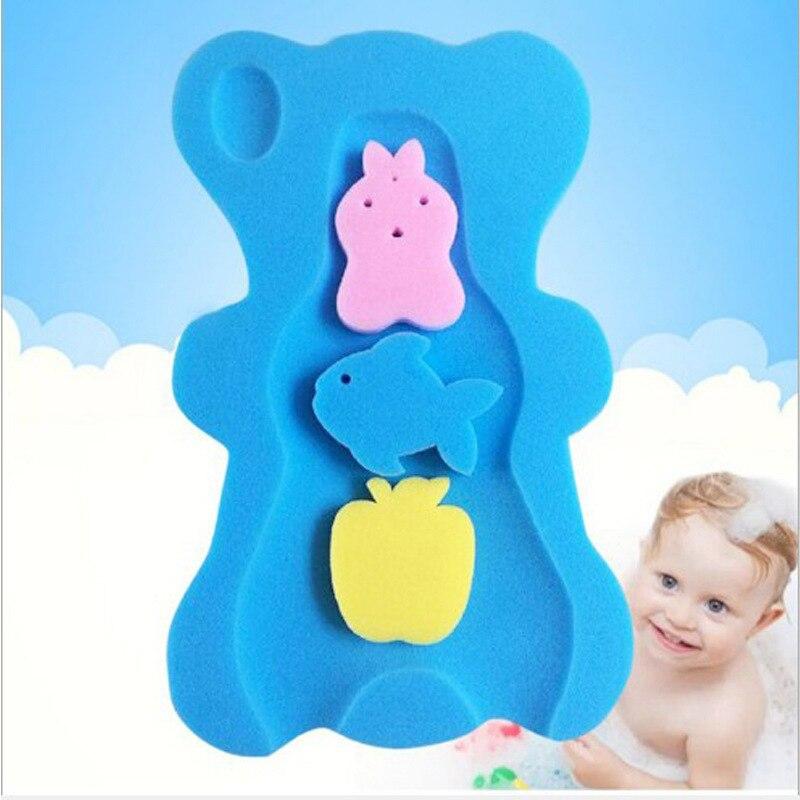 2018 New Baby Bath Mat Sponge Mat Non-slip Sponge Bath Mat For Baby Care Cute Cartoon Mat Mom Must For Baby Bath