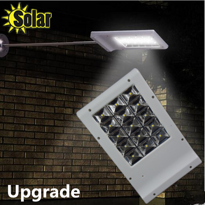 Upgrade 15LED Solar Sensor Lighting Solar Lamp Powered Panel LED Street Light Outdoor Path Wall Emergency Lamp Security цена