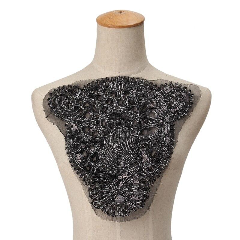 Пантера блестки вышитые железные на патчи Sitckers для одежды DIY мотив стразы Бусины кружева животные аппликация
