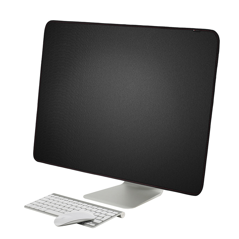 New! 21 inch 27 inch Black Polyester Computer Monitor Dust Cover Protector with Inner Soft Lining for Apple iMac LCD Screen image