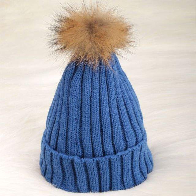 Candy Color Fur Hats For Women Winter Knitted Cap Top Quality Women Skullies And Beanies 8 Colors 12