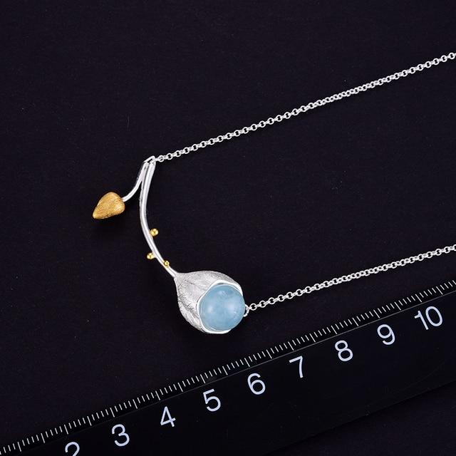 Designer Elegant Fine Jewelry Natural Aquamarine Necklace3