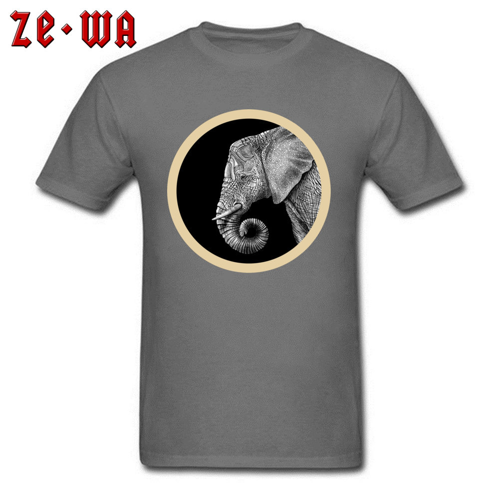 df66edbe054be0 african elephant indian Tops Shirt Hot Sale O Neck Normal Short Sleeve 100%  Cotton Fabric
