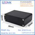 1 pezzo, 28*84*55mm vendite calde estrusione box progetto alloggiamento di alluminio box dell'elettronica custodia pcb presa di alimentazione scatole
