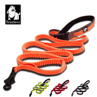 Truelove Dog Running Bungee Leash Hand held Waistworn Adjustable Nylon Elastic Retractable Dog Leads for Running Jogging Walking