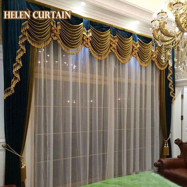 helen gordijn set luxe gordijnen voor woonkamer europese stijl met volant italiaanse fluwelen verduisterende gordijnen