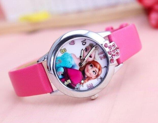 Best children watch Elsa Anna princess rhinestone cartoon watch Clever girl fash