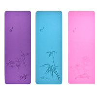 Natrual Yoga Mat Bamboo Printed 4mm TPE Sports Tapete Yoga Fitness Pilates Pads Double Side Color Environmental Non Slip Gym Mat