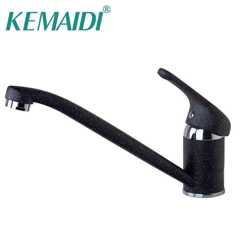 KEMAIDI New Long Spout Hot Cold Swivel 360 Spray Chrome Brass Water Tap Sink Kitchen Torneira