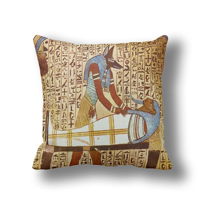 Table & Sofa Linens Egyptian Classic Art Mural Decorative Cushion Pillows Cover Custom,cushion Covers For Sofa,home Decor Pillowcase Z1015