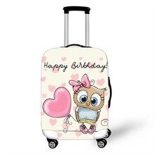 Милый защитный чехол для багажа с кошкой 18-32 дюймов, чехол для тележки, чехлы, аксессуары для путешествий, эластичная ткань