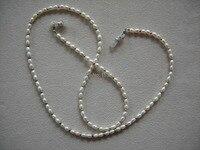 À la mode lunettes perlé réel naturel perle collier chaîne de retenue titulaire