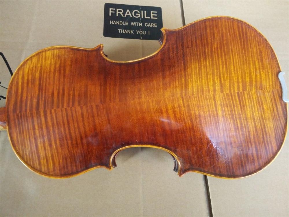 Master Level! Handmade Pro 16 Viola Flamed Maple Back Spruce Top Ebony Fingerboard Part austrian spruce ch j b collion mezin copy french master violin no 1408 nice sound antique violin100% handmade