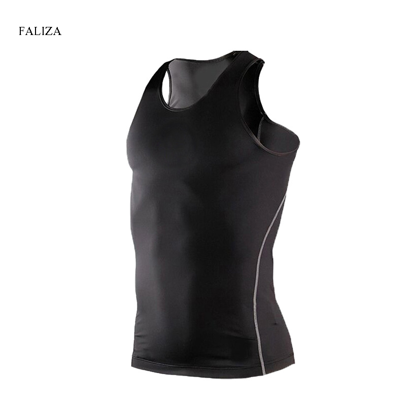 2018 New Quickly Dry Elastic Tights   Tank     Top   Fitness Bodybuilding Sleeveless Shirts Summer Breathable Casual Shirt Men TopsTX126