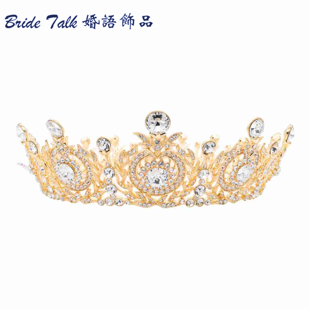 high quality big round flower tiara crown headband