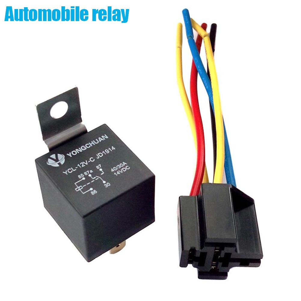 Aliexpress Com   Buy New Dc 12v Car Spdt Automotive Relay 5 Pin 5 Wires With Harness Socket 40