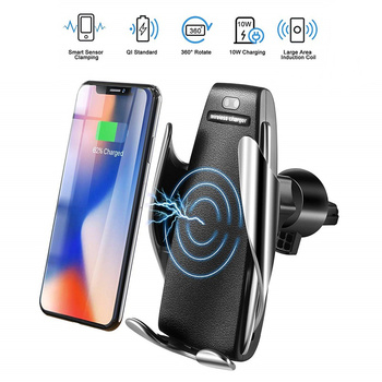 Infrared Sensing Intelligence Wireless Car Charger for iPhone 7 8plus 6 Samsung Note9 S9 S8 for iPhone XsMax Huawei Xiaomi держатель для смартфона с функцией беспроводной зарядки