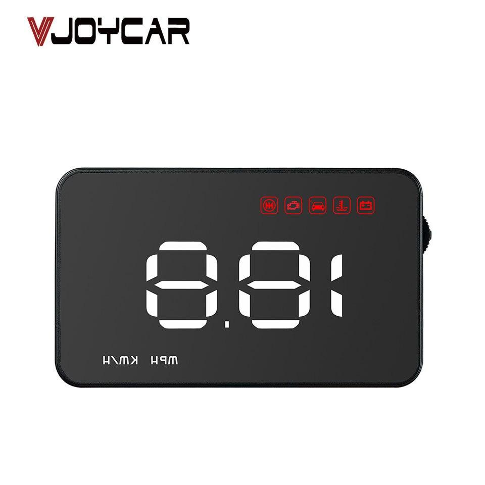 VJOYCAR A100s Moins Cher De Voiture HUD Head Up Display OBD2 II EUOBD Survitesse Avertissement Système Projecteur Pare-Brise Auto Tension D'alarme
