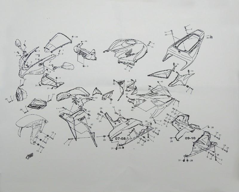 Complete Fairing Bolt nut screw Kit For HONDA CBR600RR CBR 600 RR 2007-2010 2007 2008 2009 2010 fairing bolt screw Accessories (17)