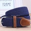 hot 2016 Men's Casual Belts Elastic luxury belt gentleman Canvas jeans sports Outdoor designer shirts belts for men black blue