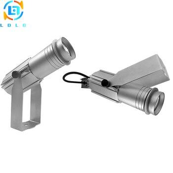 Najnowszy mały obudowa srebrny 20W obrotowy LED Gobo projektor niestandardowy obraz 20W LED obrotowy Logo projektor światło reklamowe z Gobo