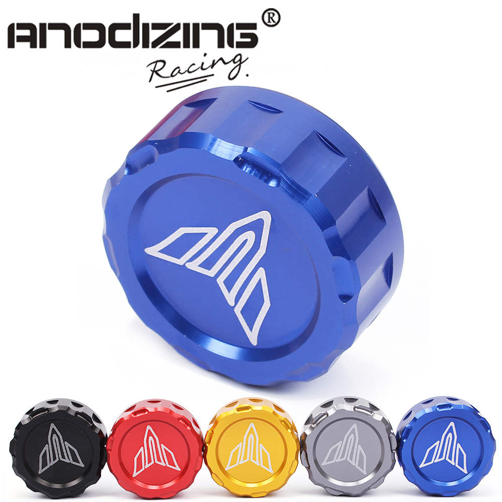 free shipping Cylinder Reservoir Rear brake reservoir cover cap For Yamaha MT-07 MT07 MT09 MT-09 FZ09 2014 2015 2016 for yamaha mt 07 mt 07 fz07 mt07 2014 2015 2016 accessories coolant recovery tank shielding cover high quality cnc aluminum