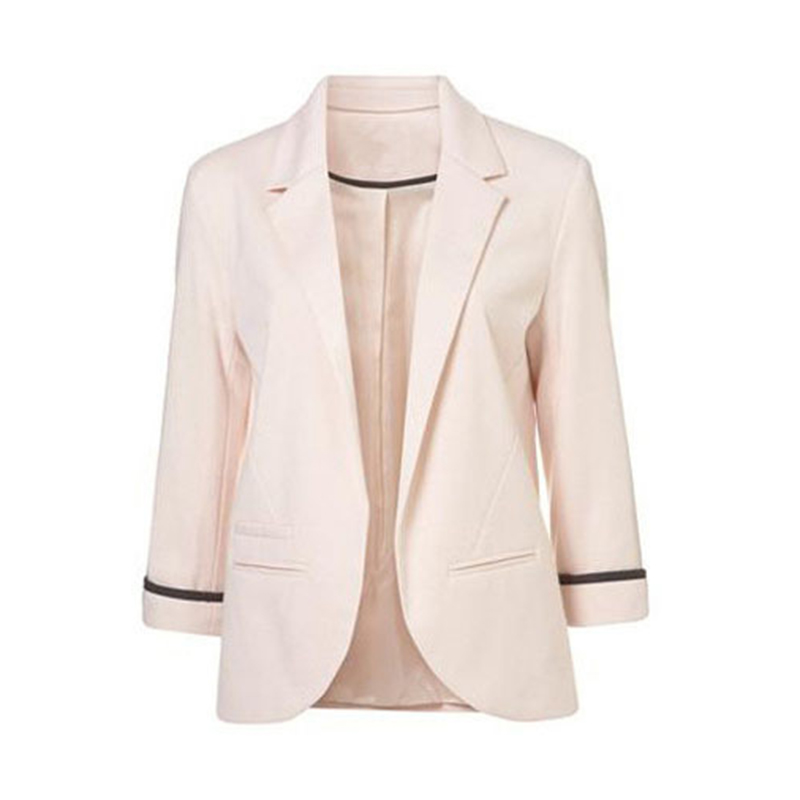 womens candy color 34 sleeve no buckle suit coatpink2xlus 1820 - Buy Candy By Color