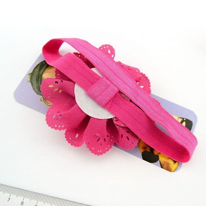 16 шт./лот корейская модная повязка на голову с цветком для девочек полые Ткань цветы Hairbands для девочек новорожденных Женские аксессуары для волос 579