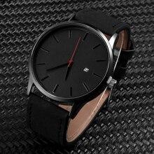 Fashion Simple Mens Watches Complete Calendar Wristwatch Gen