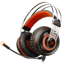 SADES A7 USB 7.1 Noise Cancelling Gaming Headphones With Microphone Mic LED Computer Laptop PC Gamer Stereo Headset Best Casque gaming headset gamer usb wired with noise cancelling microphone game headphones surround stereo for pc xbox one laptop computer