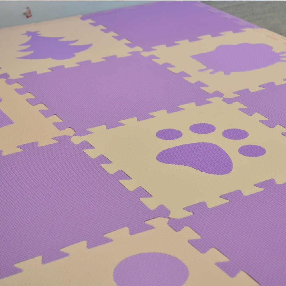 СКК детская пена EVA головоломки игровой Коврики/дети ковры Игрушечные лошадки ковер для детей Централизации упражнение напольный Плитки, 16 или 18 шт./компл., свободный край