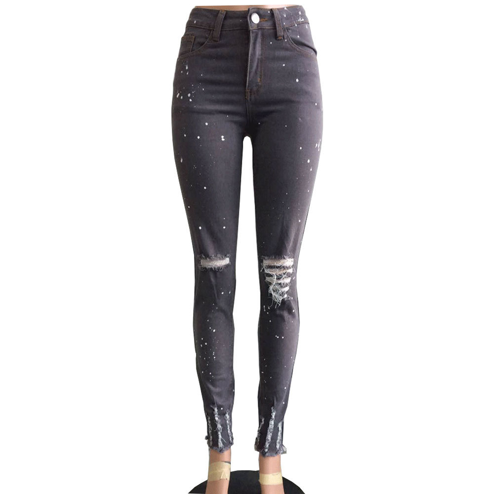 Online Buy Wholesale dark grey jeans women from China dark grey ...