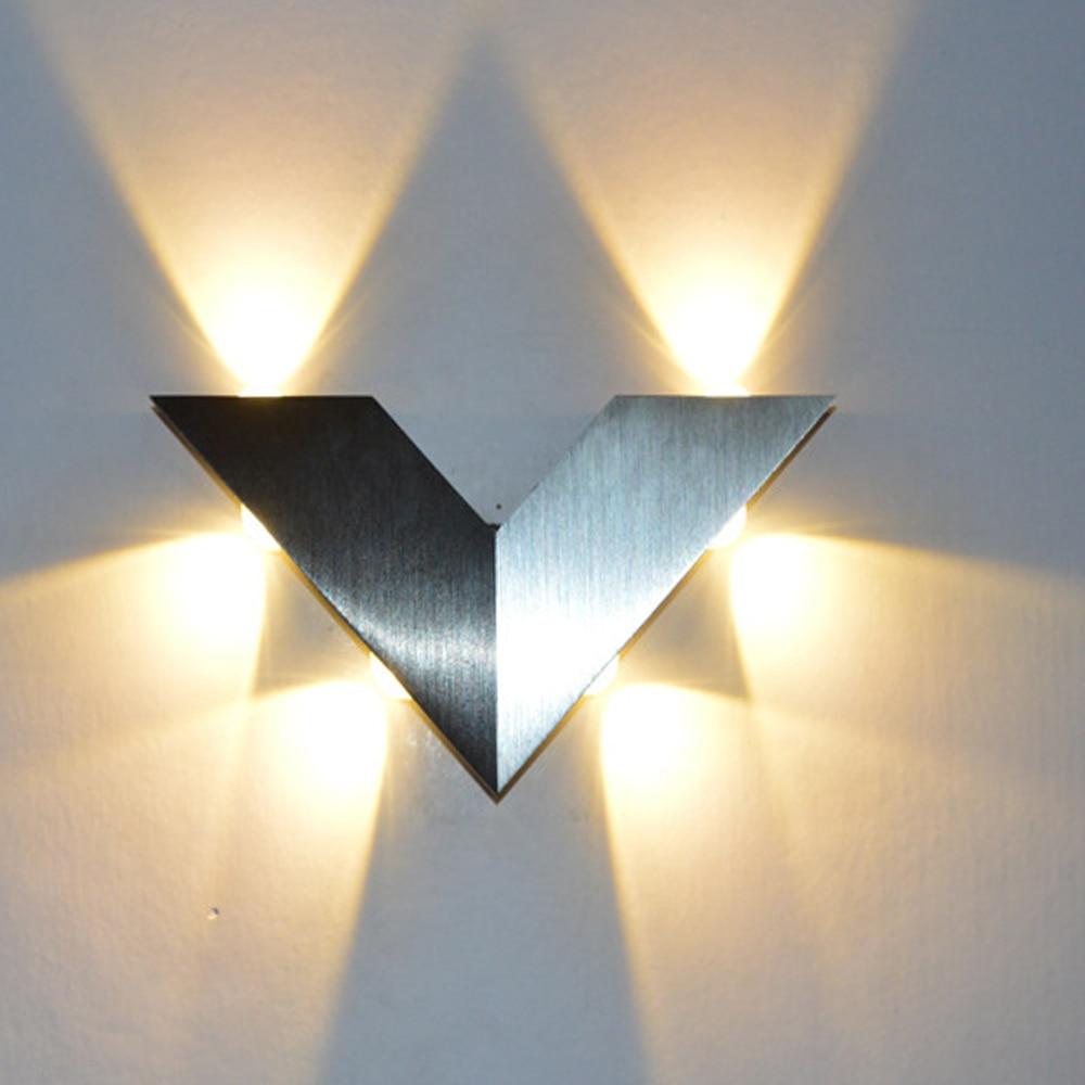 New modern triangle aluminum warm white wall light for for New modern lighting