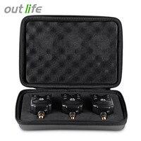 Outlife JY 1 3 3pcs Box Blue LED Wireless Fishing Bite Alarm Water Resistant Adjustable Tone