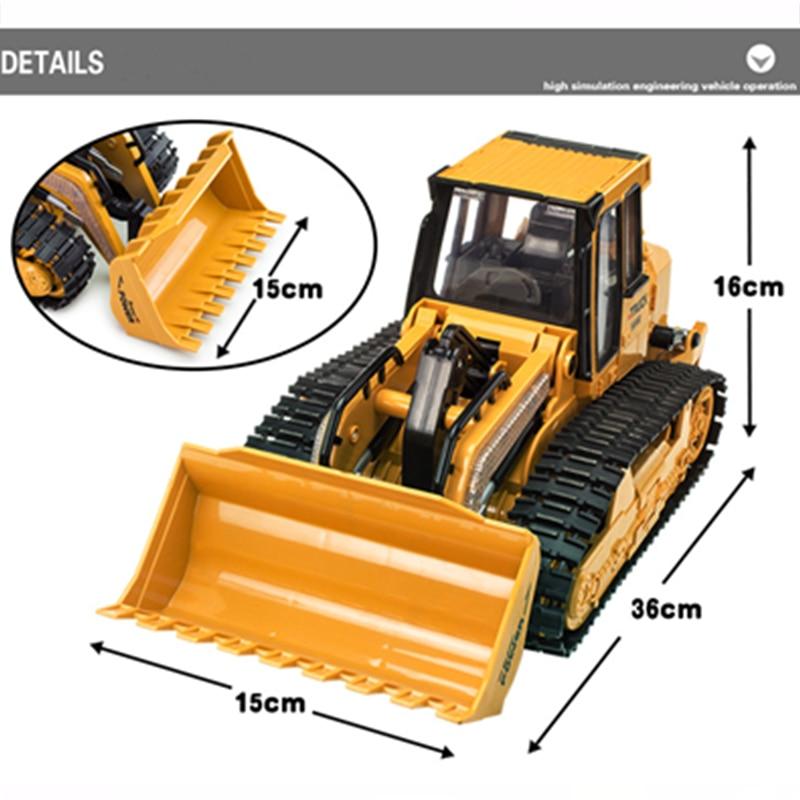 RC Truck 6CH Bulldozer Caterpillar Tractor Simulasi Kawalan Jauh - Mainan kawalan radio - Foto 4