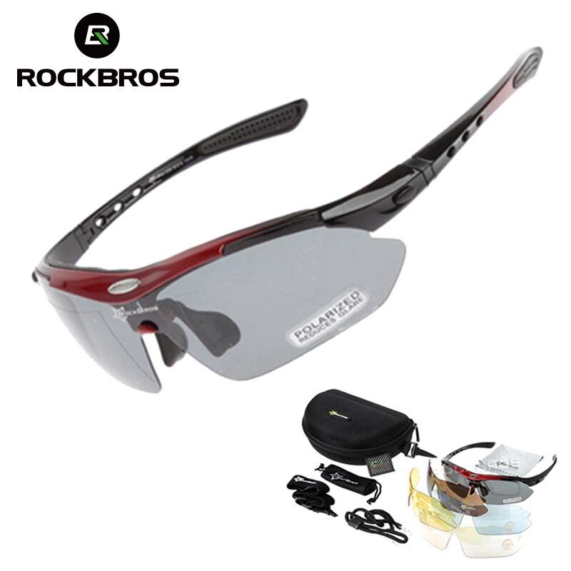 0f3bdcc784 ROCKBROS los polarizado gafas ciclismo Unisex deportes al aire libre  bicicleta sin marco gafas de sol TR90 gafas a prueba de viento 5 lente gafas  en Gafas ...