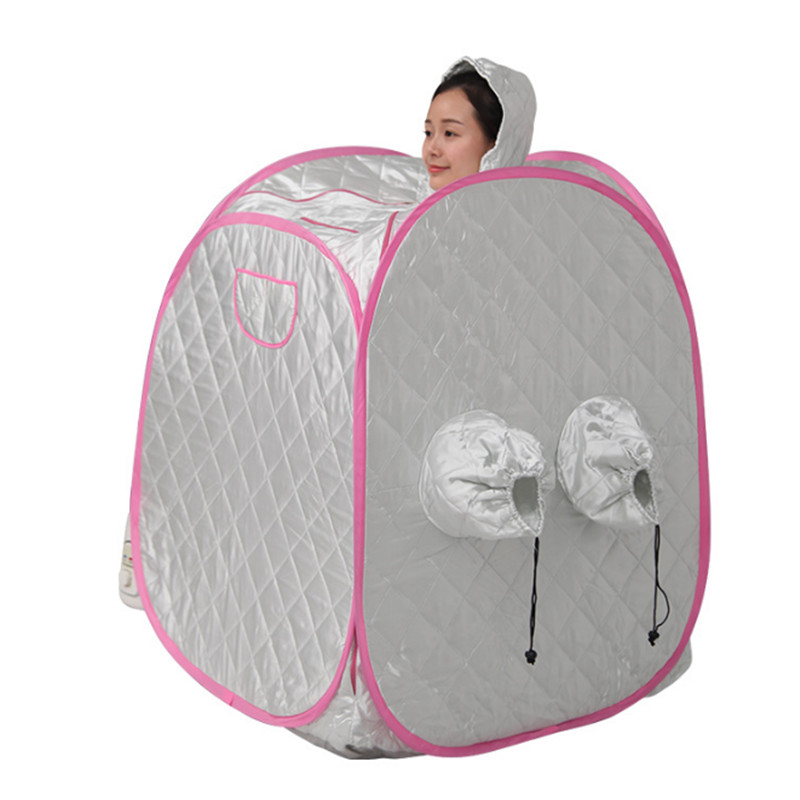 Steam sauna box Portable Steam Sauna Folding family with Adults and children relieve pains of body relaxing sauna 2017 top selling most popular heating steam box home steam sauna fat burning and body slimming sauna room chair included