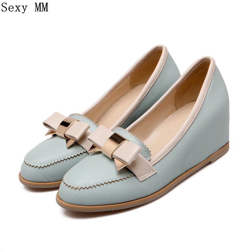 Women Oxfords Slip On Shoes Flats Wedges Woman Loafers Wedge Flat Shoes Plus Size 33 - 40 41 42 43 44 45 High Quality vitek vt 6401