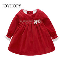 be16591fdbf6d Spring Autumn Baby Girls Clothes Infant Toddler Dresses Cotton Ruffles  Velvet Christams Costumes Baby Girl Dress