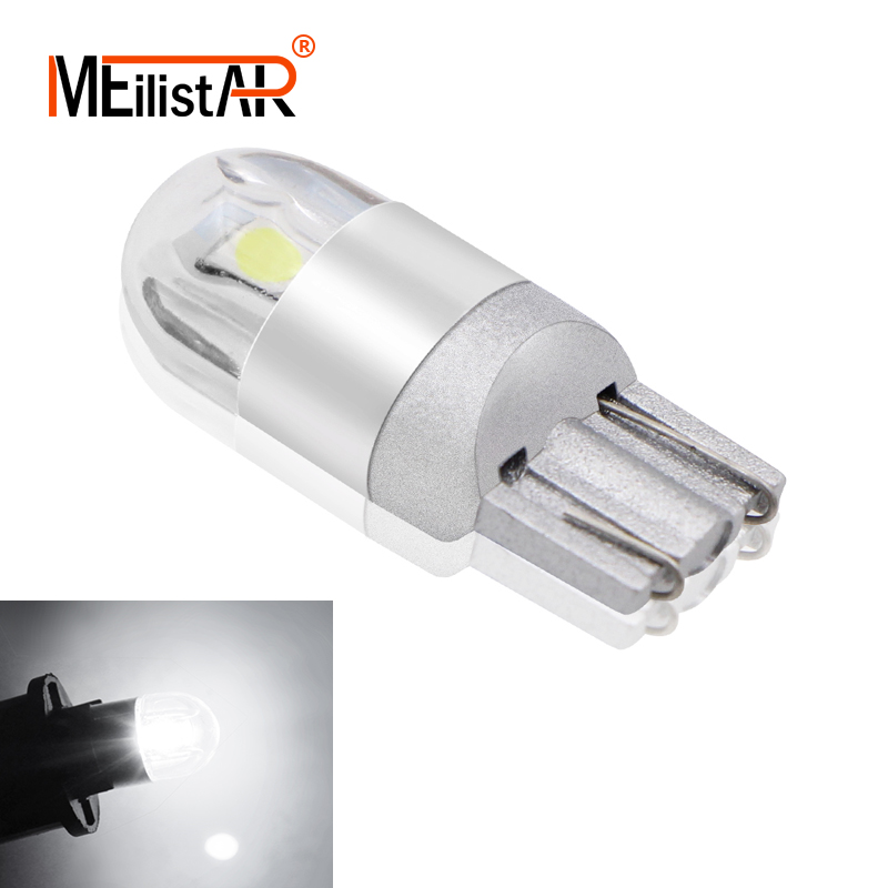 цена на Car led T10 W5W LED Car Light SMD 3030 Marker Lamp WY5W 192 501 Tail Side Bulb Wedge Parking Dome Light Car Styling DC 12V