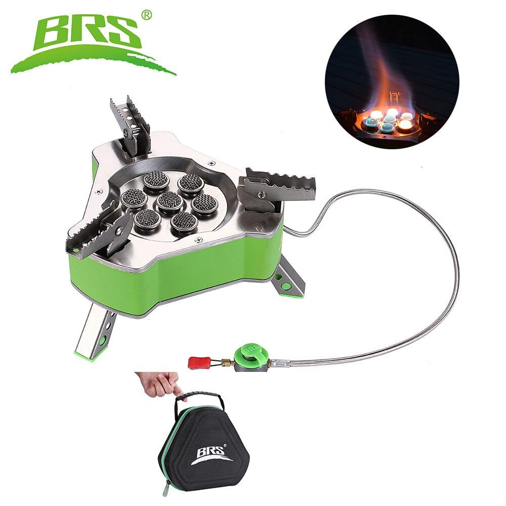 BRS Camping extérieur cuisinière à gaz brûleur Butagas gpl gaz cuisson pique-nique cuisinière gaz Butane Bruciatore pour 6-7 personnes 9800 W BRS-71