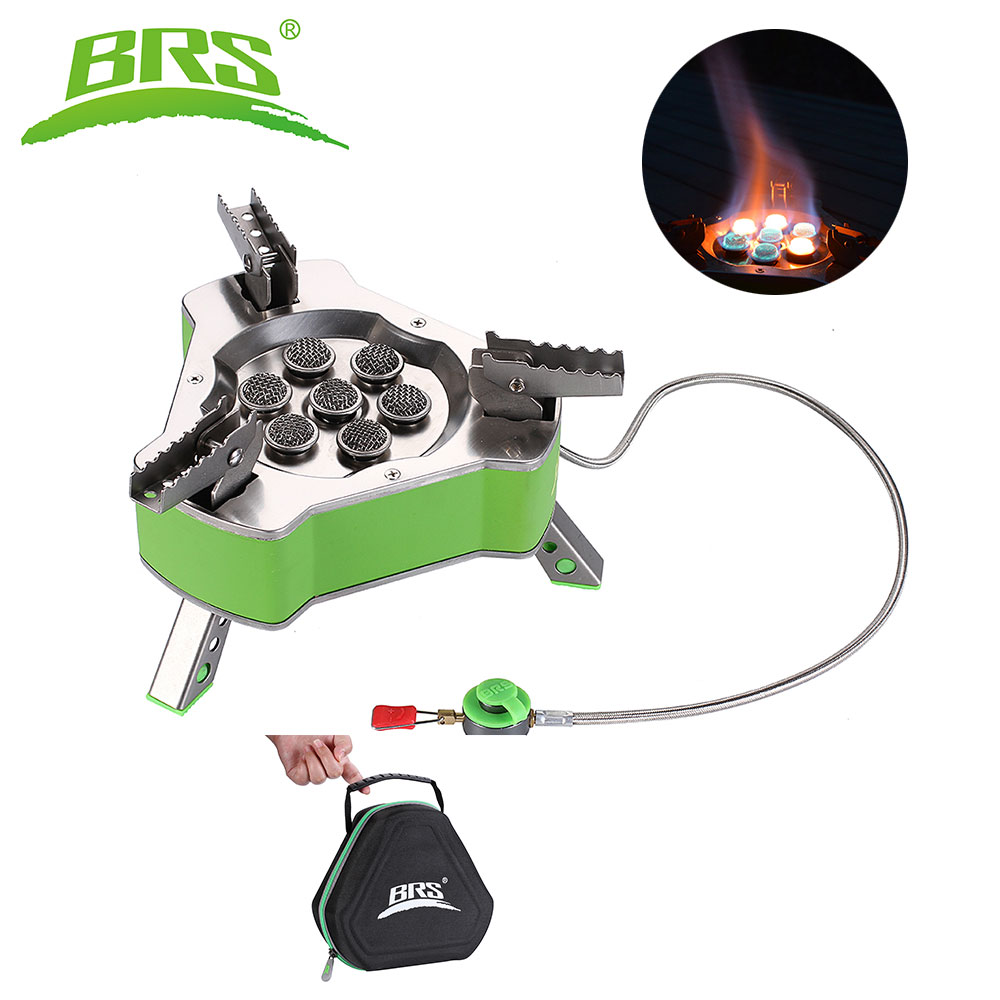 BRS Outdoor Camping Gas Stove Burner Butagas LPG Gas Cooking Picnic Stove Butane Gas Bruciatore For 6-7 Persons 9800W BRS-71 все цены
