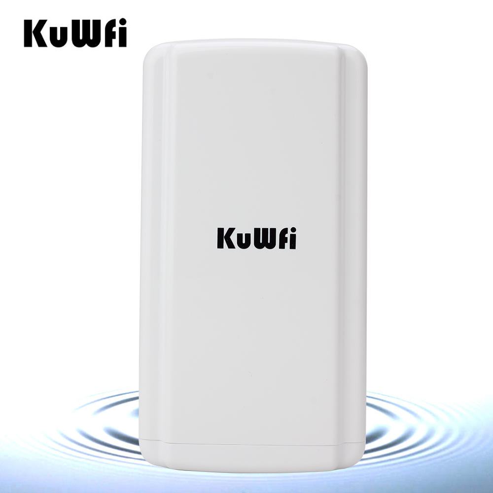 Kuwfi Long Range Wireless Bridge 150Mbps High Power Wireless Router Outdoor CPE Super WDS Wireless Network With 24V POE Adapter