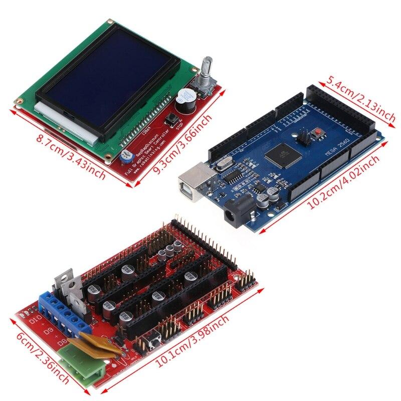 3d Printer Parts e Accessories 2560 r3 + ramps 1.4 Quantidade : 1 Conjunto